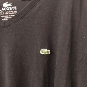 Lacoste genuine cotton pima black t shirt unisex!!